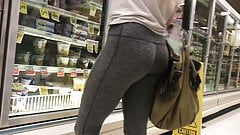 Blonde Teen Grey Spandex Booty