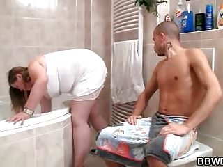 Fatty gives head and fucked from behind