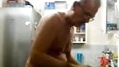 dads naked in the kitchen