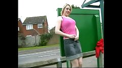 Public Flashing Changing in Bus Stop and Pissing