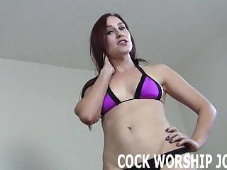 Worship his big black cock like a good bisexual boy toy