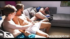 Jock And Twink Step Brothers Threesome With Sleeping Stepdad