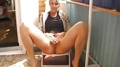 Piss on her patio.mp4