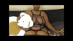 Cute Big Tit Ebony with Nosering and Fishnet