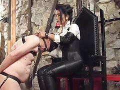 Boot Worship german Leather Lady