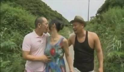 Threesome along small tits angel, Aya Eikura