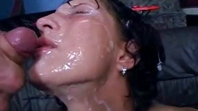 Great blow job cum eater piss