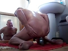 shoving large objects up my ass then wanking off