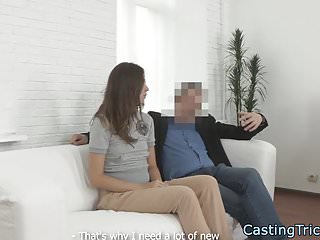 Casting eurobabe banged in cowgirl position