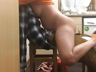 Riding Her Homemade Dildo Man Until She Cums