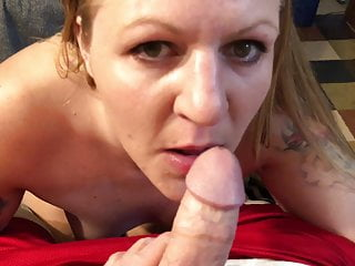 White Trash Slut With Tattoos Suck My Cock Gets The Dad Talk