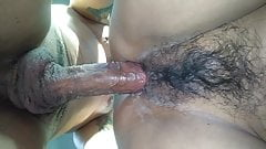Wet hairy and tight Latina pussy fuck