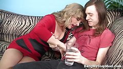 Horny MILF Sucks and Fucks a Younger Guy!