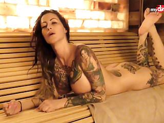 My Dirty Hobby - Busty tattooed MILF blows her man