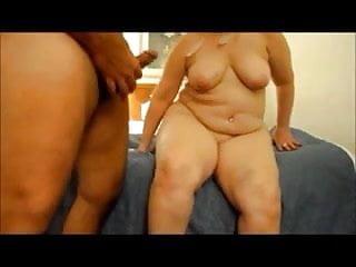 Fat Granny Gives Blowjob And Cum