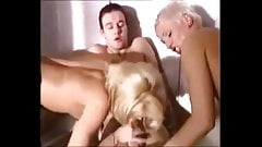 Threesome With Two Hot Blondes And Pissing Action