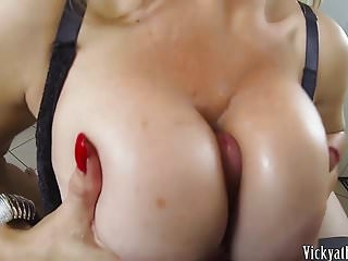 Cum Covered Big Tits Busty Milf Vicky Vette Gets A Load