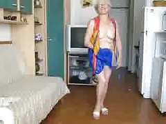 Granny shows under heR dress