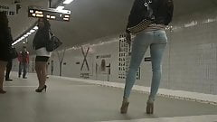 High heels and skinny jeans