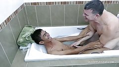 Daddy and Asian Twink Robin Fuck