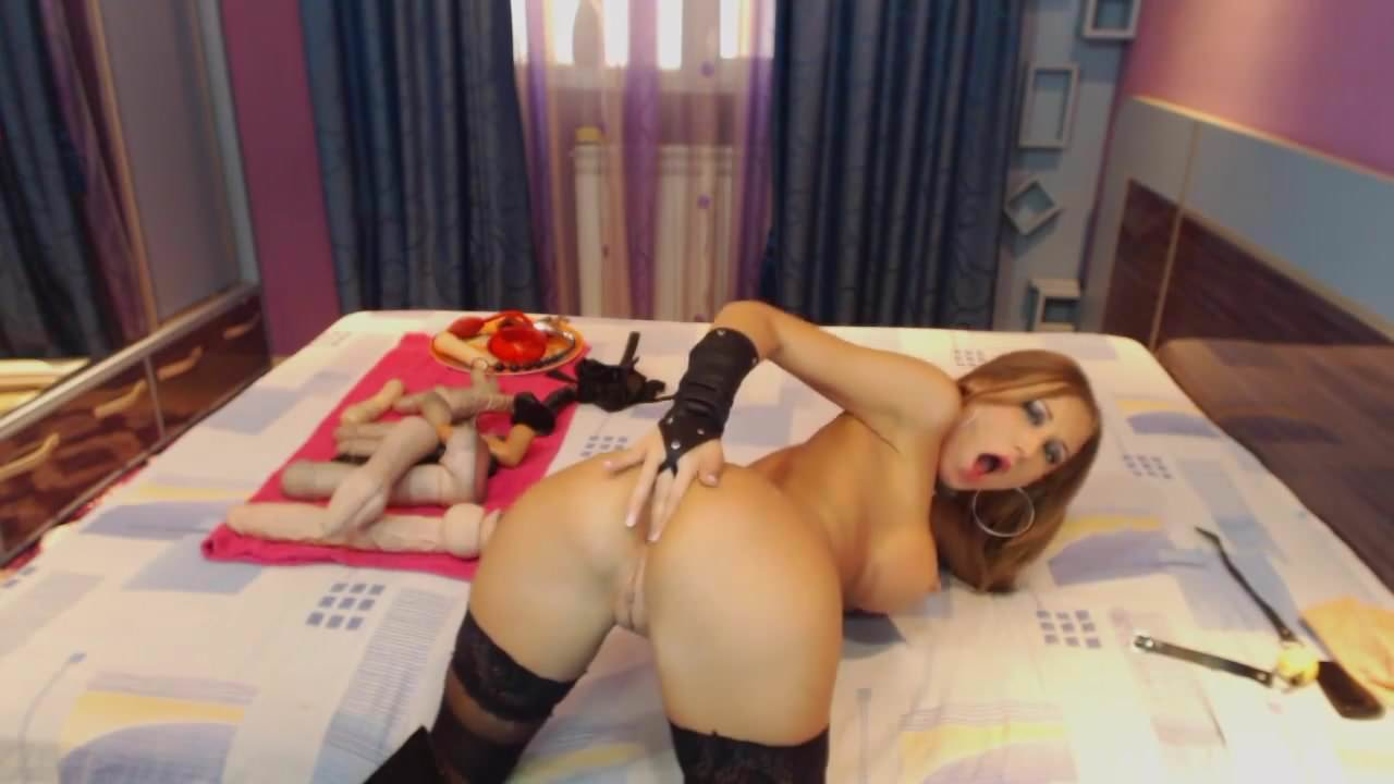 Perfect camgirl in stockings anal
