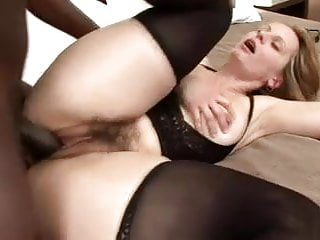 Hairy mature with black man