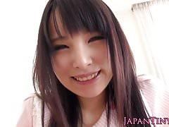 Petite japanese toyed before facial cumshot