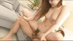 Japanese teenage babe fucking with her boyfriend