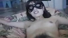 Freaky Asian chick and her guy have a piss party