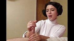 Leia hands, handjob of a princess