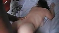 Black buddy playing with that phat ass and enjoying the view