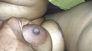 Desi Tamil gf sucking cock and bf playing her big boos