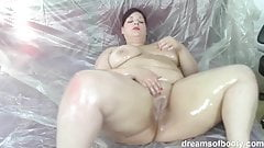 German BBW Jill oiled up
