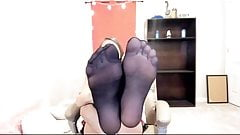 Nylon Feet Cam Cute Girl