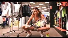 Daring teen fucks with her racket tennis