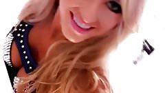 WWE - Summer Rae in her ring gear, selfie