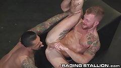 RagingStallion Monster Cock Fucks Redhead