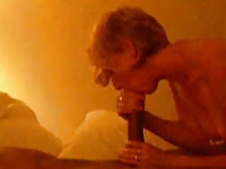 Watching wife give amazing blowjob to a huge BBC