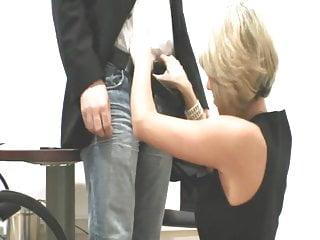 German Blonde fucks at job interview