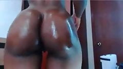 Ultra sexy slim thick black girl showing off on cam pt.2