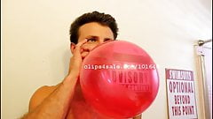 Balloon Fetish - Chris Blowing Balloons Part17 Video3