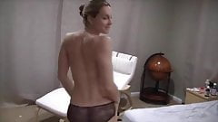 Blonde amature wife striptease