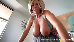 Busty MILF Neighbor Swallows My Whole Load