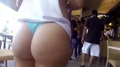 PAWG latina booty thong in public