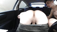 Slutty twinks in a car
