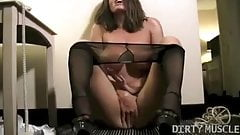 Nikki Jackson Plays With Her Big Tits and Pussy