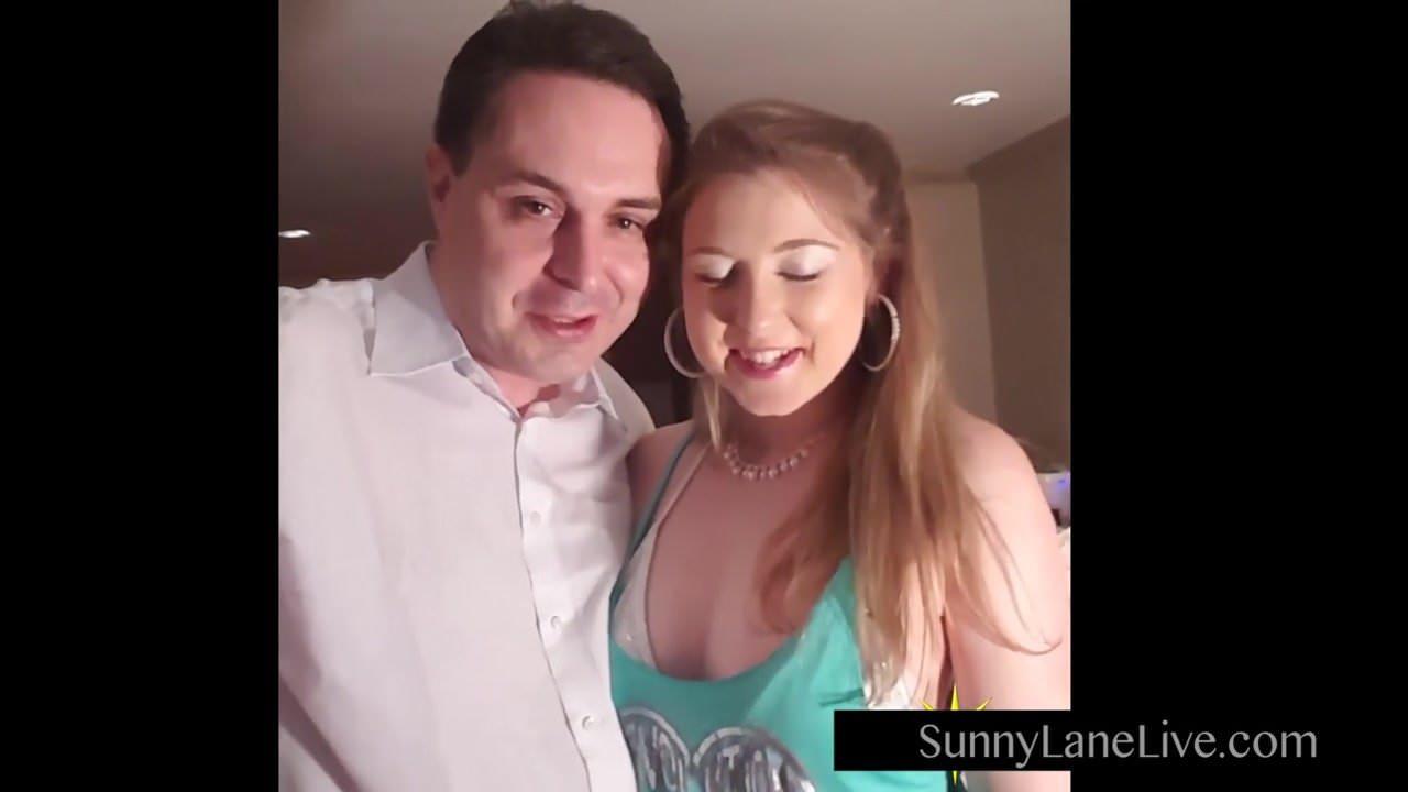 Sunny Lane Sucks Off Lucky Fan!