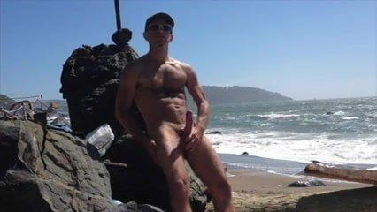 Wanking outdoor