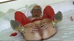 Granny Wears Red Lingerie