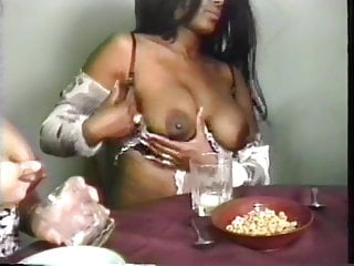Preview 3 of Gorgeous big tit lactating lesbians squeeze out lots of milk from their nips